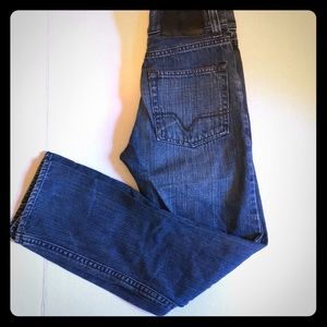 Vans Boys Denim Blue Jeans Size 12 Straight Leg